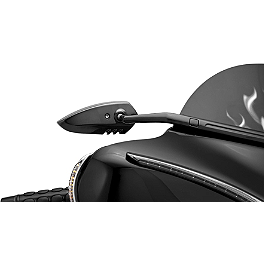 Kuryakyn Scythe Windshield Mount Mirrors - Black - Kuryakyn Rigid Mounted Tour-Pak Relocator Kit
