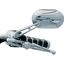 Kuryakyn Magnum Plus Mirror - Show Chrome Oval Cruiser Mirrors