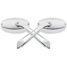 Kuryakyn Glass Mirrors - Ellipse Flat Glass - 2005 Honda VTX1800C3 Kuryakyn Rear Caliper Cover