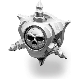 Kuryakyn Oil Filler Cap - Zombie - Biker's Choice Horn Cover - Chrome