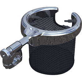 Kuryakyn Passenger Drink Holder With Basket - 2002 Honda Shadow Aero 1100 - VT1100C3 Kuryakyn ISO Grips