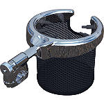 Kuryakyn Passenger Drink Holder With Basket -  Cruiser Electronic Accessories