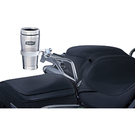 Kuryakyn Universal Passenger Drink Holder With Stainless Steel Mug - Universal - 2010 Yamaha Road Star 1700 Silverado - XV17AT Kuryakyn ISO Grips