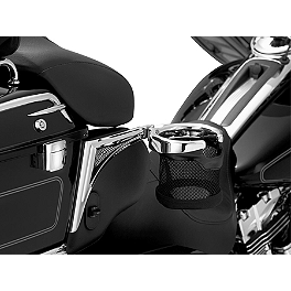 Kuryakyn Passenger Drink Holder With Basket - Right Side - 2010 Harley Davidson Electra Glide Ultra Limited - FLHTK Kuryakyn Lever Set - Zombie