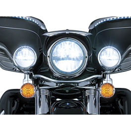 "Kuryakyn Phase 7 LED Passing Lamps - 4-1/2"" - 2006 Honda Shadow VLX - VT600C Kuryakyn Footpeg Adapters - Front"