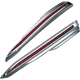 Kuryakyn Vertical LED Rear Run-Brake Light Strips - Kuryakyn LED Trunk Molding - Red Lens