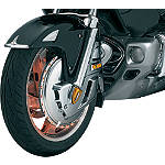 Kuryakyn Chrome Rotor Covers With LED Ring Of Fire -  Cruiser Lights & Lighting