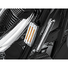 Kuryakyn Reflector Covers - Large Front - 2012 Yamaha Raider 1900 - XV19C Cobra Drive Belt Guard - Chrome