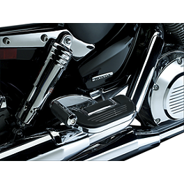 Kuryakyn Retractable Passenger Pegs With Floorboard Mount Without Adapters - Kuryakyn Mellow Crusher Mufflers With Trident Tips