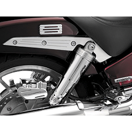Kuryakyn Rear Shock Top Covers - 2002 Honda Shadow Sabre 1100 - VT1100C2 Kuryakyn Footpeg Adapters - Front