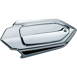 Kuryakyn Swingarm Axle Adjuster Covers - Short - 2012 Yamaha XV19CSO Yamaha Star Accessories Rear Chrome Luggage Rack - Short