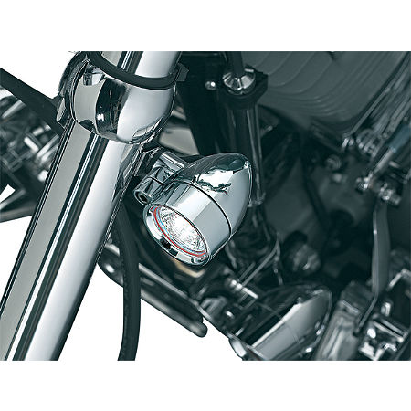 Kuryakyn Small Halogen Silver Bullets With Fork Mount - Main
