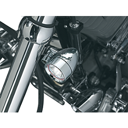 Kuryakyn Small Halogen Silver Bullets With Fork Mount - Kuryakyn Handlebar Control Covers