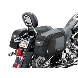 Kuryakyn Granthrow-Over Saddlebags - 2008 Yamaha V Star 1100 Silverado - XVS11AT Kuryakyn Footpeg Adapters - Front