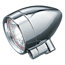 "Kuryakyn Halogen Style Silver Bullets - 3/8""-16 Mounting Bolt - Kuryakyn Power Cell Exhaust Cover - Chrome"