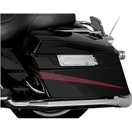 Kuryakyn Saddlebag Latch Accents - Grooved - Kuryakyn Slotted Saddlebag Lid Accents