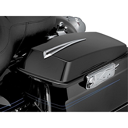 Kuryakyn Slotted Saddlebag Lid Accents - Kuryakyn Saddlebag Latch Accents - Flamed