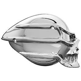 Kuryakyn Skull Cover For S&S Air Cleaner - 2006 Harley Davidson Road King - FLHRI Kuryakyn Plug-In Driver Backrest