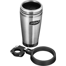 Kuryakyn Snap-N-Go Drink Holder With Stainless Steel Mug - Kuryakyn Black ISO-Grips