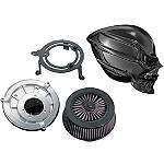 Kuryakyn Skull Air Cleaner Kit - Black - HARLEY%20DAVIDSON Dirt Bike Fuel and Air