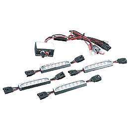 Kuryakyn Super Lizard Light Kit - Starter - Kuryakyn Heat Shield For Crusher Mufflers