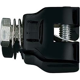 "Kuryakyn Short Black Magnum Footpeg Mounts 1/2""-13 - Kuryakyn Glass Mirrors - Ellipse Convex Glass"