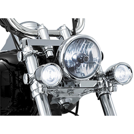 Kuryakyn Clamp-On Fork Mounted Driving Lights For 39 And 41mm Forks - 2000 Yamaha V Star 1100 Custom - XVS1100 Kuryakyn Footpeg Adapters - Front