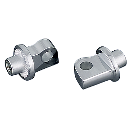 Kuryakyn Splined Male Mount Adapters - Jardine Rumblers Complete Exhaust - 3:2 Slashcut