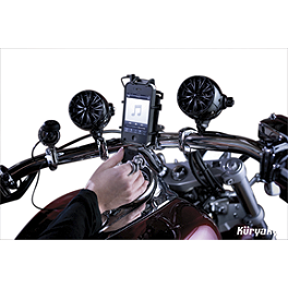Kuryakyn Sound Of Chrome Speakers - 1995 Kawasaki Vulcan 800 - VN800A Kuryakyn Footpeg Adapters - Front
