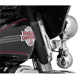 Kuryakyn Custom Tie-Down Brackets - Teardrop - 2006 Harley Davidson Road King - FLHRI Kuryakyn Plug-In Driver Backrest