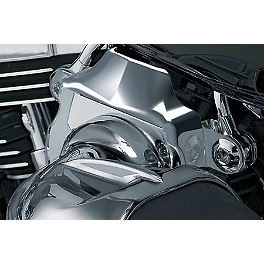 Kuryakyn Throttle Body Cover For Hypercharger - Kuryakyn Transformer Backrest With Fold Down Luggage Rack