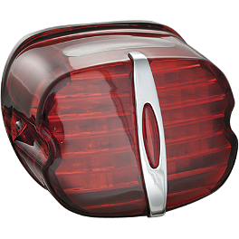 Kuryakyn LED Tail Light Conversion - Deluxe Red - 2013 Harley Davidson Dyna Fat Bob - FXDF Kuryakyn ISO Grips