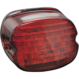 Kuryakyn LED Tail Light Conversion - Low Profile Red - 1991 Harley Davidson Sportster 1200 - XLH1200 Kuryakyn ISO Grips