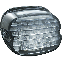Kuryakyn LED Tail Light Conversion - Low Profile Smoke - 1997 Harley Davidson Road King - FLHRI Kuryakyn Plug-In Driver Backrest