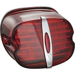 Kuryakyn Panacea LED Tail Light - Deluxe Red - 2008 Harley Davidson Dyna Super Glide Custom - FXDC Kuryakyn Lever Set - Zombie