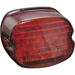Kuryakyn Panacea LED Tail Light - Laydown Red - Kuryakyn Panacea LED Tail Light - Deluxe Smoke