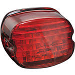 Kuryakyn Panacea LED Tail Light - Laydown Red - Cruiser Tail Lights