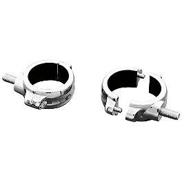 Kuryakyn 2-Piece Fork Mount For Lights - 41mm - 2000 Yamaha V Star 1100 Custom - XVS1100 Kuryakyn Replacement Turn Signal Lenses - Clear