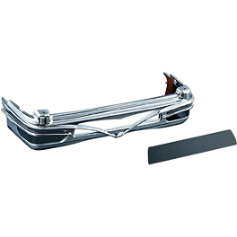 Kuryakyn Tour-Pak Colossus Rear Light Bar Trim - Kuryakyn Deluxe Convertible Luggage Rack Bag