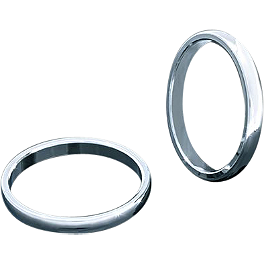 Kuryakyn Smooth Trim Rings For Transformer Grips - Kuryakyn Heat Shield For Crusher Mufflers