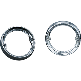 "Kuryakyn Deep Dish Flat Turn Signal Bezels - 3-1/4"" - 2007 Yamaha V Star 1100 Classic - XVS11A Kuryakyn Replacement Turn Signal Lenses - Clear"