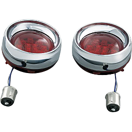 Kuryakyn Deep Dish Front Turn Signal Bezels With LEDs - Amber - 2007 Honda Shadow Aero 750 - VT750CA Show Chrome Front LED Turn Signal Conversion Kit