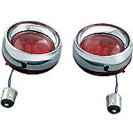 Kuryakyn Deep Dish Front Turn Signal Bezels With LEDs - Amber - Honda Interstate 1300 - VT1300CT Cruiser Lighting