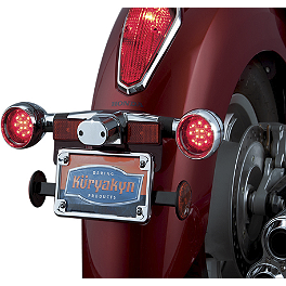 Kuryakyn Deep Dish Rear Turn Signal Bezels With LEDs - Red - 2008 Kawasaki Vulcan 1600 Mean Streak - VN1600B Kuryakyn Rear Caliper Cover