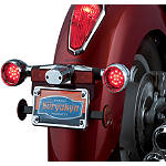 Kuryakyn Deep Dish Rear Turn Signal Bezels With LEDs - Red - Honda Interstate 1300 - VT1300CT Cruiser Lighting