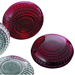 Kuryakyn Replacement Turn Signal Lenses - Red - 2008 Yamaha V Star 650 Classic - XVS65A Kuryakyn Replacement Turn Signal Lenses - Clear