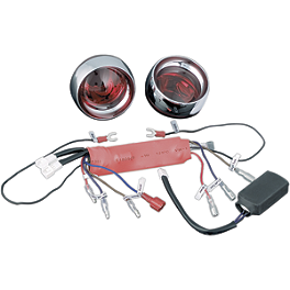 Kuryakyn Triple Whammy Run-Turn-Brake Light Kit - Show Chrome Rear LED Turn Signal Conversion Kit