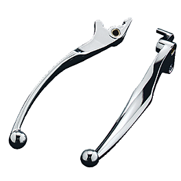 Kuryakyn Widestyle Lever Set - Show Chrome Smooth Blade Brake Lever