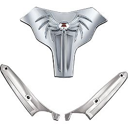 Kuryakyn Premier Widow Windshield Trim Set - 2012 Can-Am Spyder RS SE5 Kuryakyn Footpeg Adapters - Front