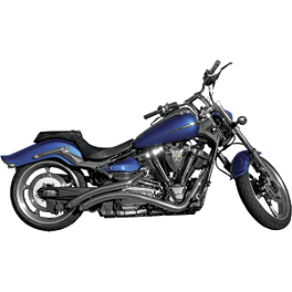 LA Choppers Curvedd Slash-Cut Exhaust System - LA Choppers Curvedd Exhaust System